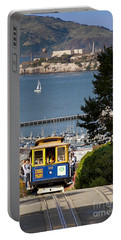 Cable Car In San Francisco Portable Battery Charger by Brian Jannsen
