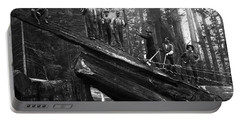 Cabling A Redwood Log C. 1890 Portable Battery Charger
