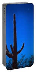 Cactus And Moon Portable Battery Charger