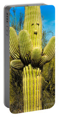 Portable Battery Charger featuring the photograph Cactus Face by Mae Wertz