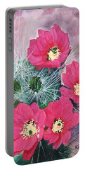 Cactus Flowers I Portable Battery Charger by Mike Robles