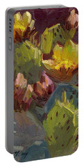 Cactus In Bloom 1 Portable Battery Charger