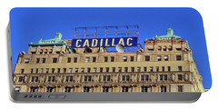 Cadillac Building In Downtown Detroit Portable Battery Charger