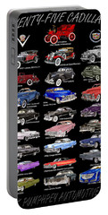 25 Cadillacs In A Poster  Portable Battery Charger