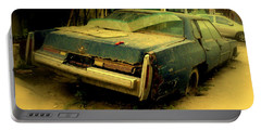 Portable Battery Charger featuring the photograph Cadillac Wreck by Salman Ravish