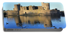 Caerphilly Castle Portable Battery Charger by Vicki Spindler