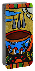 Portable Battery Charger featuring the painting Cafe Criollo  by Oscar Ortiz