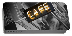 Cafe Sign Portable Battery Charger by Chevy Fleet