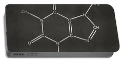Caffeine Molecular Structure Gray Portable Battery Charger