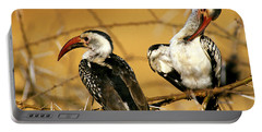 Calao A Bec Rouge Tockus Erythrorhynchus Portable Battery Charger by Gerard Lacz
