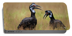 Calao Dabyssinie Bucorvus Abyssinicus Portable Battery Charger by Gerard Lacz
