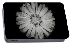 Portable Battery Charger featuring the photograph Calendula Flower - Textured Version by Laura Melis