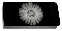 Calendula Flower - Textured Version Portable Battery Charger by Laura Melis