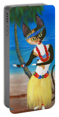 Calico Hula Queen Portable Battery Charger by Jamie Frier