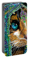 Calico Indian Bride Cats In Hats Portable Battery Charger