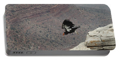 California Condor Taking Flight Portable Battery Charger by Jayne Wilson
