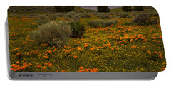California Poppies In The Antelope Valley Portable Battery Charger