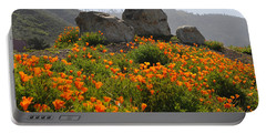 Portable Battery Charger featuring the photograph California Poppies by Lynn Bauer