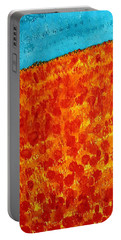 California Poppies Original Painting Portable Battery Charger