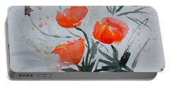 California Poppies Sumi-e Portable Battery Charger by Beverley Harper Tinsley