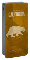 California State Facts Minimalist Movie Poster Art  Portable Battery Charger
