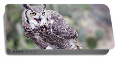 Portable Battery Charger featuring the photograph Call Of The Owl by Dan McManus