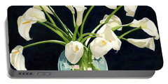 Calla Lilies In Vase Portable Battery Charger