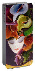 Calla Lily Dame.. Portable Battery Charger