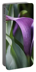 Calla Lily In Purple Ombre Portable Battery Charger