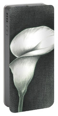 Calla Lily Portable Battery Charger by Troy Levesque