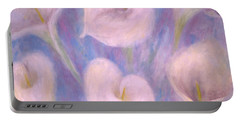 Portable Battery Charger featuring the painting Callas by Lynn Buettner