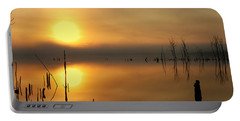 Calm At Dawn Portable Battery Charger by Roger Becker
