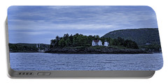 Portable Battery Charger featuring the photograph Camden Twilight N Curtis Island Light House by Daniel Hebard