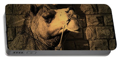 Camel Portrait Desert India Jaisalmer Portable Battery Charger