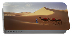 Camels In Desert Morocco Africa Portable Battery Charger