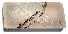 Camels Walking In Desert Portable Battery Charger