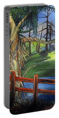 Camino Real Park Portable Battery Charger by Mary Ellen Frazee
