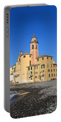 Portable Battery Charger featuring the photograph Camogli Seaside And Church by Antonio Scarpi