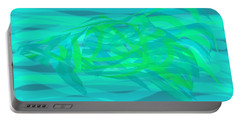Portable Battery Charger featuring the digital art Camouflage Fish by Stephanie Grant