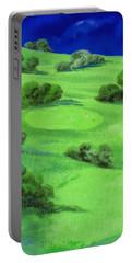 Campo Da Golf Di Notte Portable Battery Charger by Guido Borelli