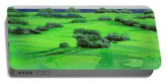 Campo Da Golf Portable Battery Charger by Guido Borelli