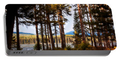 Campsite Dreams Portable Battery Charger by Janie Johnson
