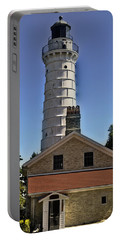 Portable Battery Charger featuring the photograph Cana Island Lighthouse by Deborah Klubertanz