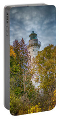 Cana Island Lighthouse II By Paul Freidlund Portable Battery Charger by Paul Freidlund