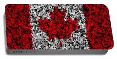 Canada Flag Text Portable Battery Charger