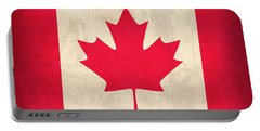 Canada Flag Vintage Distressed Finish Portable Battery Charger