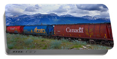 Canadian Freight Train In Jasper #2 Portable Battery Charger