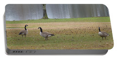 Canadian Geese Tourists Portable Battery Charger