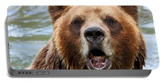 Canadian Grizzly Portable Battery Charger by Davandra Cribbie