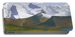 Canadian Rockies Portable Battery Charger by Terry Frederick